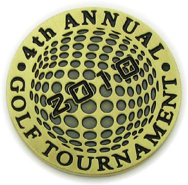 Ball marker coin for Saint Boniface Catholic School Golf Tournament