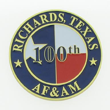 100th Anniversary coin Richards Masonic Lodge