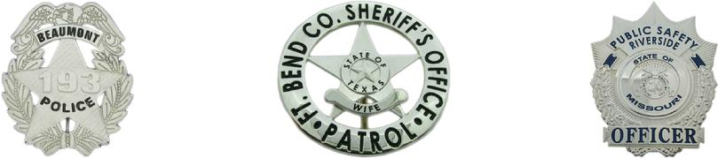 custom sterling silver police badges